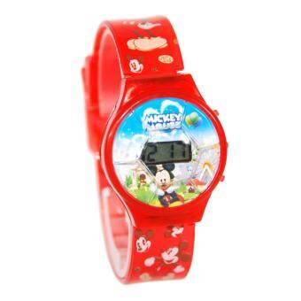 Harga Mickey Mouse Digital Sport Watch (Red)