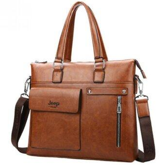 Harga Jeep Buluo Men Business Briefcase Leather Shoulder Bags For 14 inch Laptop Bag Travel Handbags