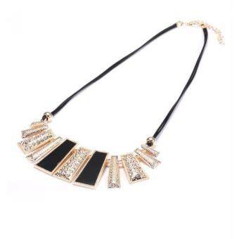 Harga FANCICO Colored Geometric Pendant Hollow Necklace Gold