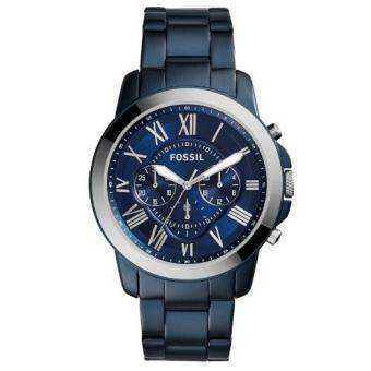 Harga Fossil FS5230 Men's Grant Chronograph Blue Steel Watch