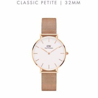 Harga Daniel Wellington Classic Petite Melrose/Sterling 32mm [Ladies]-FREE SHIPPING