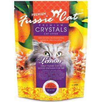 Harga Fussie Cat Premium Crystals Cat Litter 5Lit Lemon x 6pcs