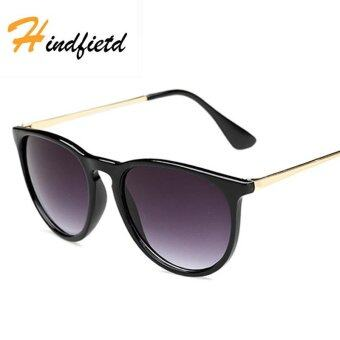 Harga HINDFIETD 2017 New Fashion Retro Trend UV Protection Sunglasses for Women (Black)