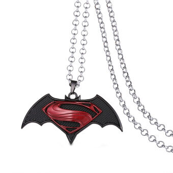Harga Hequ Popular Batman V Superman Alloy Pendent Necklace Movie Jewelry Accessories black