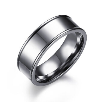 Harga new simple engagement rings jewelry stainless steel wedding rings with US size 4 to 15 7mm Wide Rings Wholesale