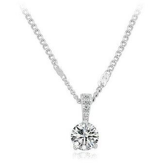 Harga Vivere Rosse Galaxy Solitaire Pendant Necklace (Silver)