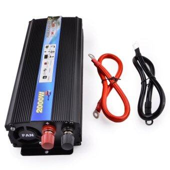 Harga HOT-A1-00018 2000W Car Vehicle USB DC 24V to AC 220V Power InverterAdapter Converter - Black