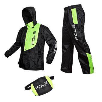 Harga Fashion Motorcycle Electric car Raincoat Suit Riding Suit(Green M)