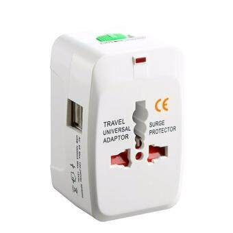 Harga Premium Quality International Worldwide Universal Travel Adapter with 2 USB Port