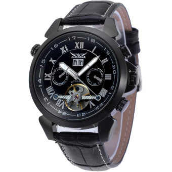 Harga Jargar Forsining Automatic Dress Watch with Black Leather Strap Gift Box JAG057M3B2 (Black)