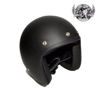 Harga Gel Open Face Helmet Flat Black