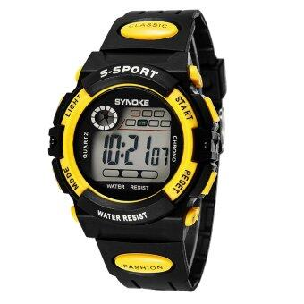Harga Synoke Children Sports Water-Proof Watch-Yellow