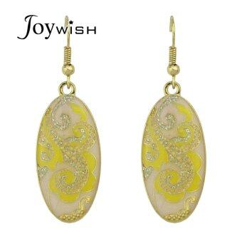 Harga Joywish Ethnic Style Multicolor Enamel Flower Drop Earrings for Women