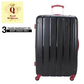 Harga Royal McQueen QTH 6907 Polypropylene 4 WheelsSpinnner 24 Hard Case Luggage Black""