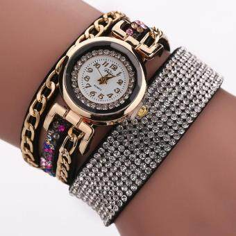 Harga Duoya 2017 Fashion Ladies Dress Watch Women Luxury Crystal Gold Wrist Watch For Women Bracelet Vintage Business Clock Watch