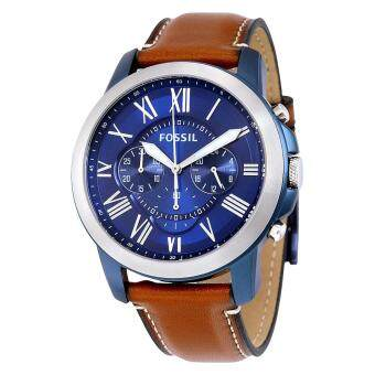 Harga Fossil Watch Grant Chronograph Brown Stainless-Steel Case Leather Strap Mens NWT + Warranty FS5151