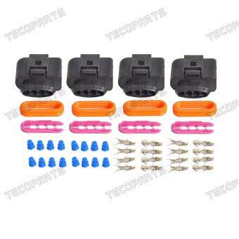 Harga Set 4 Ignition Coil Connector Repair Kit IC39 plug Audi A4 A6 A8,VW Passat Jetta