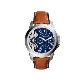 Harga Fossil Watch Grant twist Brown Stainless-Steel Case Leather Strap Mens NWT + Warranty ME1161