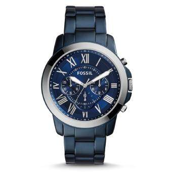 Harga Fossil Men's FS5230 Grant Chronograph Blue-Tone Stainless Steel Watch (Blue)