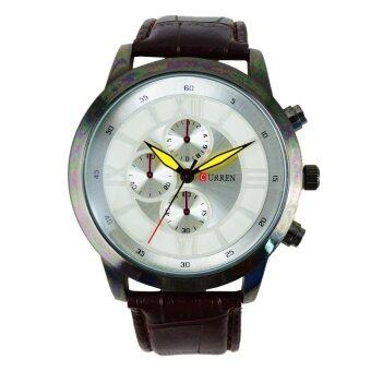 Harga CURREN 8137 Casual wristwatch with Leather (White)
