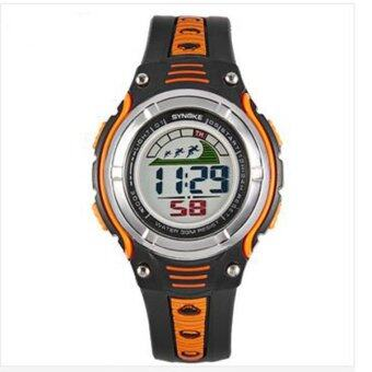 Harga Synoke 99599 Child Students Waterproof 30M LED Backlight Wristwatch Orange