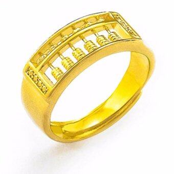 Harga Fortune Golden Abacus Men's Ring - 24K Gold-Plated