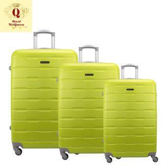 Harga Royal McQueen Hard Case 4 Wheels Spinner Light Weight (20+24+28) Luggage – QTH 6910 (GREEN)
