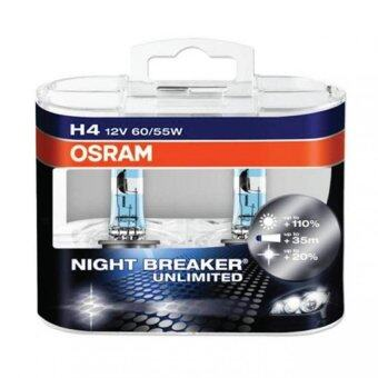 Harga Original Osram Night Breaker Unlimited Bulb H4 Made In Germany - One Pair