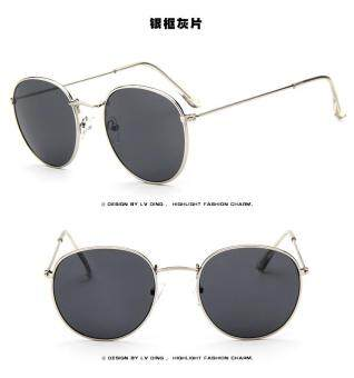 Harga New retro sunglasses round box wild color film sunglasses fashion trend sunglasses
