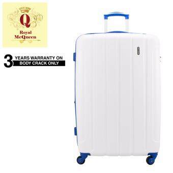 Harga Royal McQueen QTH 6907 Polypropylene 4 WheelsSpinnner 28 Hard Case Luggage White""