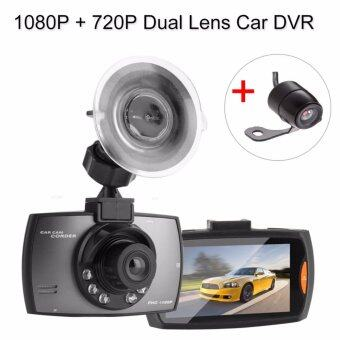 Harga 2.7 Inch Car DVR with HDMI/AV-In DVR Video Recorder Dash Cam Dual Lens Camera DVR 1080P + 720P