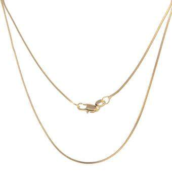 Harga Bigood 2 Pcs Plated Gold Shiny Thin Snake Necklace Link Chain 60cm