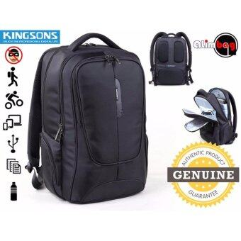Harga Genuine Authentic Kingsons Executive Series Smart Anti-Thief Travel Outdoor Business Casual Sport Gym 15.6 Inch Waterproof Laptop Backpack For Men Women Computer Bag KS3058W