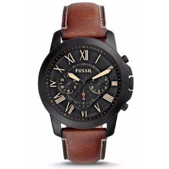 Harga Fossil Men's FS5241 Grant Chronograph Luggage Leather Watch
