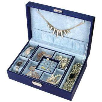 Harga FANCICO Fashion Jewellry storage display box Fashion Dark Blue