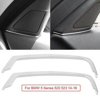 Harga 2pcs ABS Chrome Loudspeaker Molding Decal Covers For BMW 5 Series 520 523