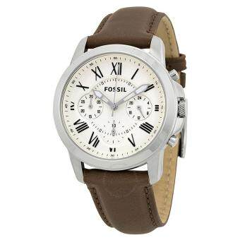 Harga FOSSIL FS4839 Grant Chronograph Dial Brown Leather Men's Watch