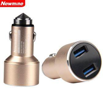 Harga Newmine Universal Dual Usb Car Charger Adapter 3.4A Fast Charging(Gold)