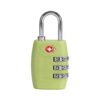 Harga Fashion Resettable Digit Combination Password Travel Luggage Suitcase Lock Padlock (Green)