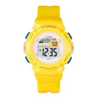 Harga Coconie Waterproof Children Boys Girl Digital LED Sports With Date Wrist Watch Yellow