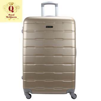 Harga Royal McQueen Hard Case 4 Wheels Spinner Light Weight 24 Luggage – QTH 6910 (GOLD)""