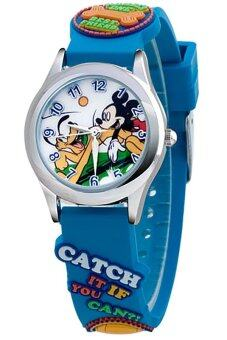 Harga Disney Mickey Mouse Blue Rubber Strap Watch MSFR927-01B