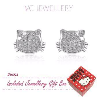 Harga Platinum Plated Hello Kitty Earrings