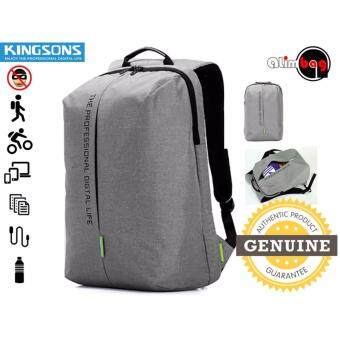 Harga Genuine Authentic Kingsons Pulse Series Smart Anti-Thief Travel Outdoor Business Casual Sport Gym 15.6 Inch Waterproof Laptop Backpack For Men Women Computer Bag KS3123W
