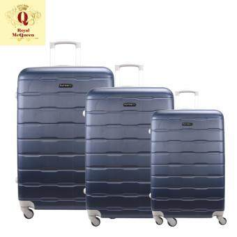 Harga Royal McQueen Hard Case 4 Wheels Spinner Light Weight (20+24+28) Luggage – QTH 6910 (NAVY)