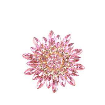Harga FANCICO Fashion Pink Crystal Rhinestone Brooch - (2 colors)