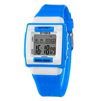 Harga SYNOKE 66188 Brand Cartoon Watch Fashion Children Sport Waterproof LED Digital swimming Watch ss66188_Blue
