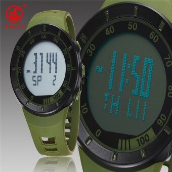 Harga 2016 New OHSEN Brand Sports Military Watches Fashion Quartz Watch Silicone Strap Casual Wristwatch Men's Led Watch Green