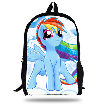 Harga 16inch My Little Pony Bag For School backpacks for teenager girls winx school bags children Kids cartoon My Little Pony Backpack