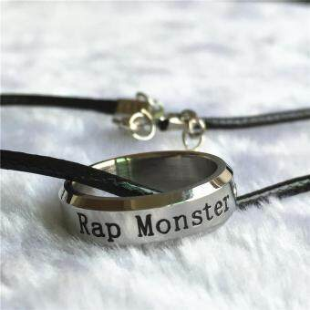 Harga BTS Bangtan Boys Wings Album Rap monster Rapmonster Rope Ring Accessories KPOP Jewelry Rings With Lanyard